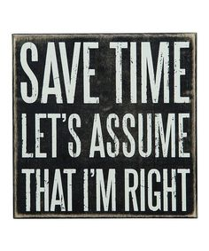 Another great find on #zulily! 'Save Time' Box Sign #zulilyfinds