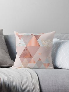 Blush pink, copper and rose gold geometric design • Also buy this artwork on home decor, apparel, stickers, and more.