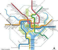 Washington, DC Metro Subway System Map