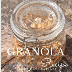 Granola Recipe: The Ultimate Easy Mix Granola, Easy, Recipes, Food, Recipies, Essen, Meals, Ripped Recipes, Yemek