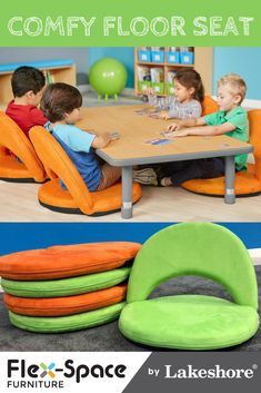 Top-quality classroom furniture—from traditional chairs & tables to mobile desks & other flexible seating options! New Classroom, Classroom Setting, Classroom Setup, Classroom Design, Kindergarten Classroom, Classroom Flexible Seating, Flexible Seating Ideas, Classroom Ceiling Decorations, Montessori Elementary