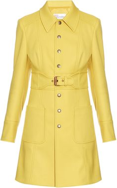 REDVALENTINO Belted twill coat