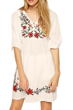 Asher White Mexican Embroidered Peasant Dressy Tops Blouses (One Size, Yellow) at Amazon Women's Clothing store: