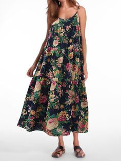 Stylish Bohemian Chiffon Floral Print Elastic Waist Maxi Skirt For Women - NewChic Mobile