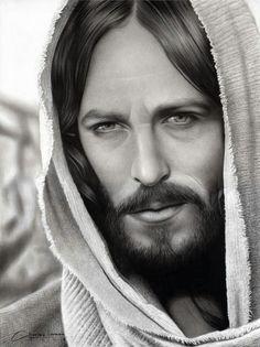 Jesus Christ by charlesdesenhos on DeviantArt Jesus Tattoo, Christ Tattoo, Jesus Smiling, Kopf Tattoo, Jesus Drawings, Sainte Therese, Pictures Of Jesus Christ, Jesus Wallpaper, Foto Transfer