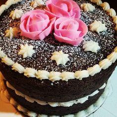 Chocolate Chipotle with Lemon & Raspberry Buttercream #mom #birthday