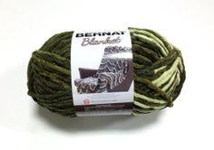 Bernat Big Blanket Yarn Gathering Moss Large Skein 300 Grams New Home Decor Color 10107