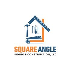 Siding and Roofing Construction Company Logo and Card by MasterPieces