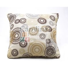 "Decorative Pillow The ""Serendipity-Twinkle"" accent pillow by Ashley features a decorative pattern and is 22"" wide and 22"" high."