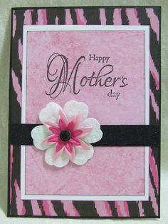 Mothers Day Cards Handmade | Savvy Handmade Cards: Pink Zebra Mother's Day Card