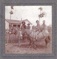 Kids riding donkeys.     Courtesy: paws22. Lincoln, Nebraska (USA).