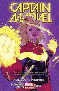 Captain Marvel Vol. 3: Alis Volat Propriis (Captain Marvel series) by Kelly Sue DeConnick (August) - More personal than the last two. I loved Carol's ingenuity and her commitment to saving her friends, and it was interesting to see her realize that her head-on tactics aren't always the best move. The loss of Tracy gave Carol more depth, and I really liked getting more of Tracy's backstory both before and after she met Carol. This run easily cemented Carol as one of my favorite Marvel…
