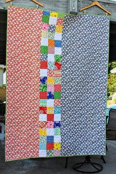Geraniums Quilt back by Darci - Stitches, via Flickr