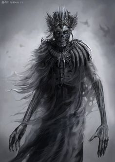 It is said that a high level necromancer tier magician job) can, under certains circumstances, achieve the status of a Lich, which is a high level undead monster. Gothic Horror, Arte Horror, Gothic Art, Horror Art, Dark Fantasy Art, Fantasy Artwork, Dungeons And Dragons, Dark Art Drawings, Demon Art