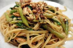 Linguine with Almond Butter Crunch Sauce