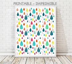 laminas infantiles, laminas imprimibles, imprimible infantil, lamina gotas, gotas colores, lamina lluvia, cuadro infantil, cuadro gotas