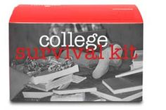 college survival kit - high school grad gift (add top ramon, easy mac, in-n-out card, pre-paid calling card (for a dead cell battery night)
