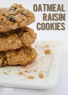 Recipe: Oatmeal Raisin Cookies | Family Gone Healthy
