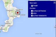 Terremoto in Calabria magnitudo 2.7   LeNews.eu: Ultime notizie dal mondo - news blog collaborativo