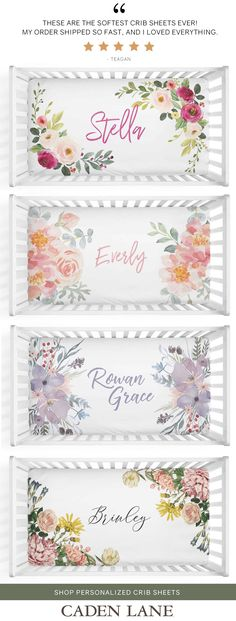 Baby Girl Personalized Crib Sheets 2019 The cutest baby girl personalized name crib sheets I've found! Love them for the nursery. The post Baby Girl Personalized Crib Sheets 2019 appeared first on Nursery Diy. Baby Girl Names, Baby Boy Rooms, Baby Girl Gifts, Cutest Girl Names, Baby Crib Sheets, Baby Cribs, Baby Bedding, Home Design, Baby Love