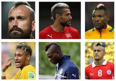 Jogadores com corte moicano #Copadomundo 2014