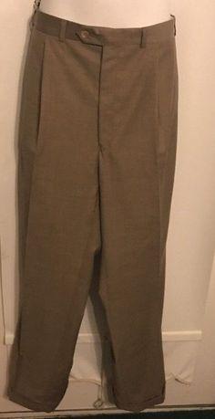 fa4dcd45b2f Ralph Lauren Men Dress Pants Size 46 Long 40 W Wool Blend Olive NWT  395