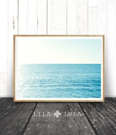 Beach Wall Art Coastal Art Print Modern Minimal by LILAxLOLA