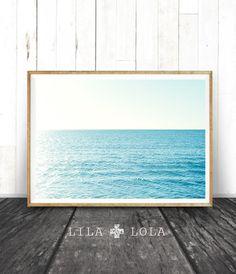 Beach Wall Art Coastal Art Print Modern Minimal by LILAxLOLA
