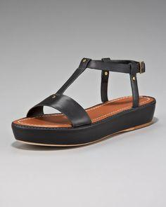 Love this: Tstrap Low Platform Sandal @Lyst