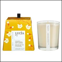 Burning cleanly for over 50 hours, all Lucia candles are a safe and environmentally friendly alternative to existing petroleum based paraffin candles. Our organic Soy is sourced from farming collectiv Paraffin Candles, Soy Wax Candles, Votive Candles, Scented Candles, Chandeliers, Bougie Candle, Candle Packaging, Aromatherapy Candles, Candle Making