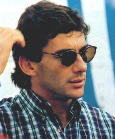 Ayrton Senna with this glasses...