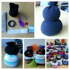 Gemaakt van sokken. Diy For Kids, Crafts For Kids, Arts And Crafts, Christmas And New Year, Kids Christmas, Sock Snowman, Diy Presents, Saint Nicholas, Sewing Projects For Kids
