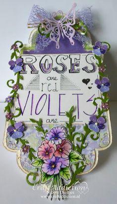 Sweet Violets CraftEmotiions