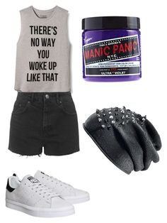 """""""Untitled #10"""" by xxlolasagexx ❤ liked on Polyvore featuring INC International Concepts, Topshop, adidas and Manic Panic"""