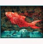 Large Koi Serving Tray * I love the colors of this tray, just don't know what I would do with it