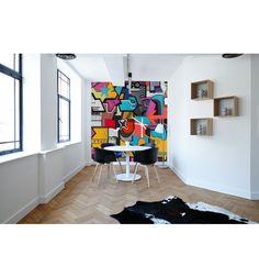 """Décor mural imprimé sur toile adhésive, découvrez """"French Graffiti"""" une création de Catherine Feff"""