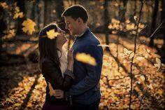 A sweet fall engagement shot from Finest Moments. #engagement #fall #photography #couples