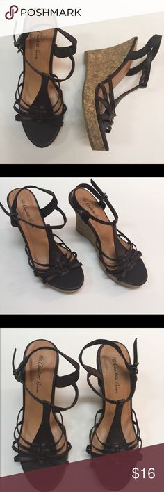 Charlotte Russe Wedges NWT Beautiful Strappy Wedges Charlotte Russe Shoes Wedges