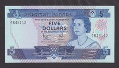 SOLOMON   5 Dollars 1977   UNC  P6b  QEII