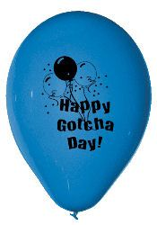 Gotcha Day Balloons!?!??!  Why have I never seen these before???  So getting these for their next Gotcha Days!