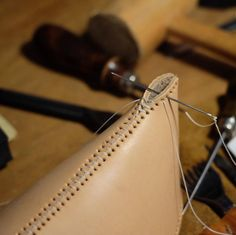 leather stitching