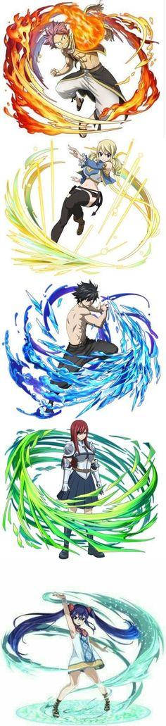 Team Natsu! Natsu - Lucy - Gray - Erza - Wendy!