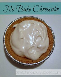 Easy No Bake Cheesecake Recipe. My mom always used to make this! Delicious!!