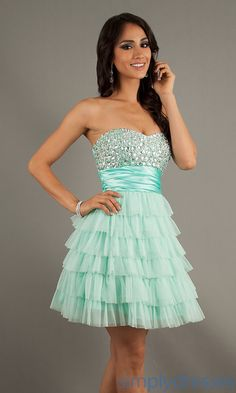 Dress, Short Strapless Bead Embellished Dress - Simply Dresses