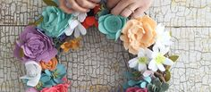 felt-flower-wreaths  HANDMADE DECOR!