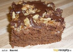 Dobrota z jablek a ořechů recept - TopRecepty.cz Cookie Recipes, Dessert Recipes, Sweet Cakes, Cheesecakes, Cake Cookies, Nutella, Food And Drink, Sweets, Healthy Recipes