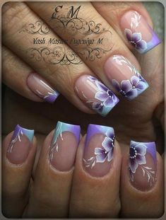 Here are some hot nail art designs that you will definitely love and you can make your own. You'll be in love with your nails on a daily basis. Nail Art French, French Gel, French Acrylic Nails, French Tip Nails, Best Acrylic Nails, Acrylic Nail Art, Acrylic Nail Designs, Nail Art Designs, French Tips