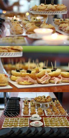 Le ghiotte specialità salate che abbiamo servito alla festa di compleanno di Silvia: panini, pizzette, golose torte salate e tanti altri stuzzichini.