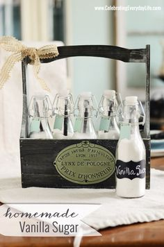 Homemade Vanilla Sugar Recipe, Pinterest Inspired Craft with Michaels and Hometalk, Celebrating Everdyay Life with Jennifer Carroll