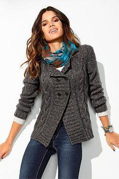 Women's Cardigans - Heine Chunky Knit Cardigan